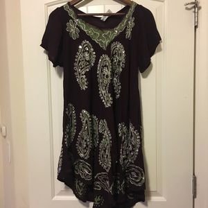 Beach cover up/dress/long shirt one size fits all